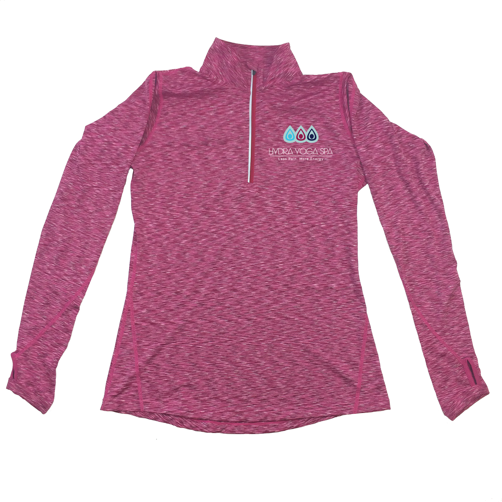 aee754392f3a9 NEW Space Dye Magenta Women s 1 4 Zip Pullover HYDRA